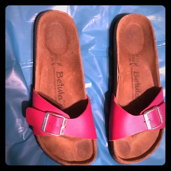 54bfcb70be6f6b Birkenstock Shoes - Birkenstock Betula Size 8 8.5 39 Red Sandals